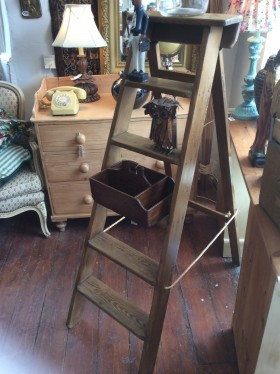 Stripped Pine step ladders
