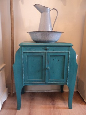 Lovely Painted Record Cupboard with magazine storage to both sides