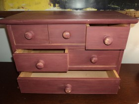 Small set of painted drawers