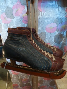 1929's Ice  skates with original leather blade covers